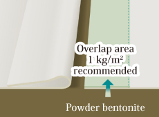 Spread powder bentonite