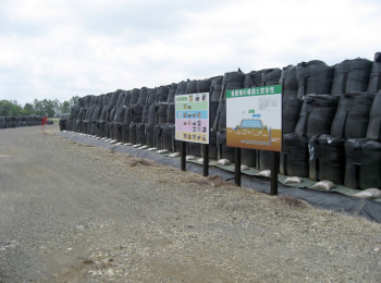 Temporary storage of decontaminated waste